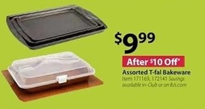 Assorted T-fal Bakeware