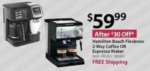 Hamilton Beach Flexbrew 2 Way-Coffee or Espresso Maker - Free Shipping