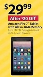 "Amazon Fire 7"" Tablet with Alexa 8GB Memory"