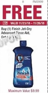 Finish Jet-Dry Advanced Rinse Aid