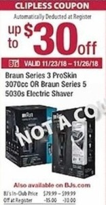 Braun Series 3 ProSkin 3070cc OR Braun Series 5 5030s Electic Shaver