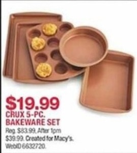Crux 5 Pc. Bakeware Set