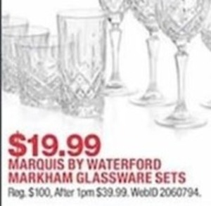 Marquis By Waterford Markham Glassware Sets