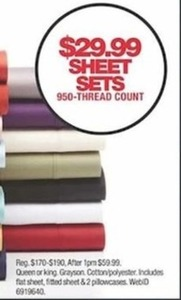 Sheet Sets 950 Threat Count
