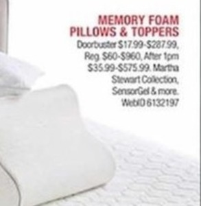 Memory Foam Pillows and Toppers