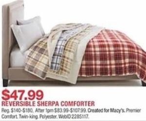 Reversible Sherpa Comforter