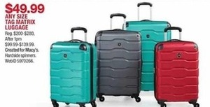 Any Size Tag Matrix Luggage