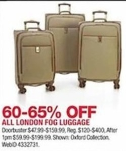 All London Fog Luggage