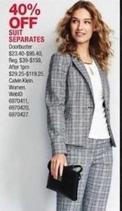 Calvin Klein Women's Suit Separates