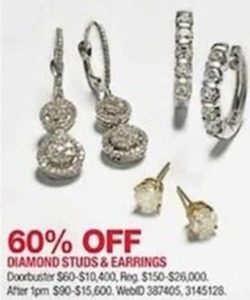 Diamond Studs & Earrings