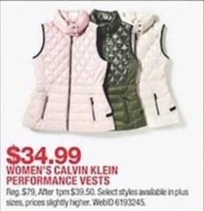Women's Calvin Klein Performance Vests