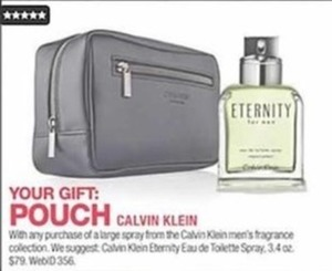 Free Calvin Klein Pouch w/ Men's Fragrance Purchase