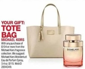 Tote Bag w/ Michael Kors Fragrance Purchase