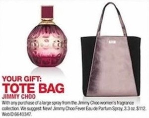 Jimmy Choo Tote Bag w/ Purchase of Any Large Spray from the Jimmy Choo Women's Fragrance Collection