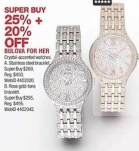 Bulova for Her Watches