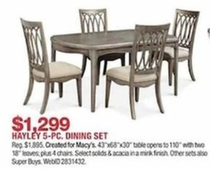 Hayley 5-Piece Dining Set