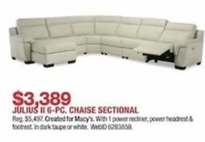 Julius 6-Piece Chaise Sectional