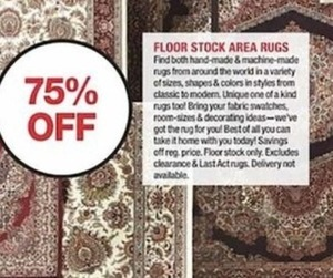 Floor Stock Area Rugs