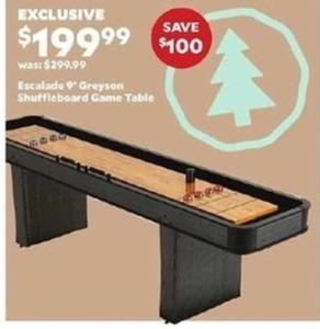Escalade 9' Greyson Shuffleboard Game Table