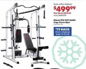 Marcy MD-5191 Smith Cage Home Gym - After Rebate