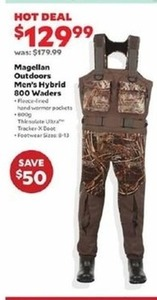 Magellan Outdoors Men's Hybrid 800 Waders