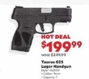 Taurus G25 Luger Handgun