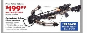 CenterPoint Sniper Elite Crossbow