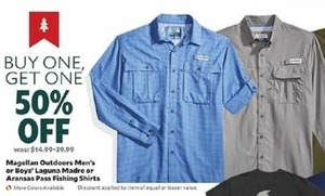 Magellan Outdoors Men's or Boys' Laguna Madre or Aransas Pass Fishing Shirts