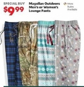 Magellan Outdoors Men's or Women's Lounge Pants