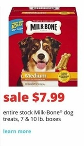 Milk-Bone Dog Treats 7 and 10 Lb. Boxes