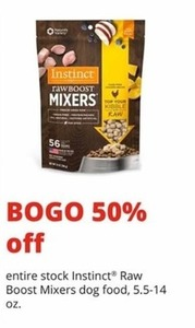 Instinct Raw Boost Mixers Dog Food
