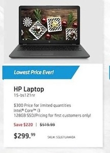 HP Laptop 15-bs121nr Intel Core i3