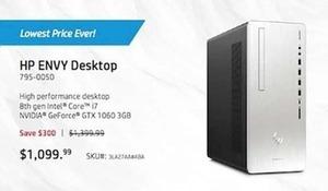 HP Envy Desktop w/ 8th Gen Intel Core i7 NVIDIA GeForce GTX