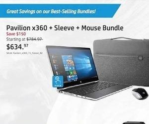 Pavilion X360 + Sleeve + Mouse Bundle