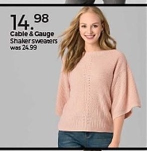 Cable & Gauge Shaker Sweaters