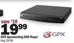 GPX Upconverting DVD Player