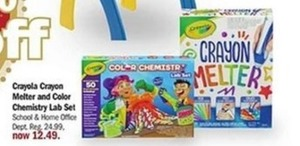 Crayola Crayon Melter and Color Chemistry Lab Set