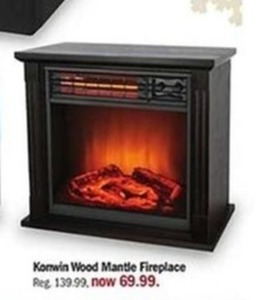 Konwin Wood Mantle Fireplace