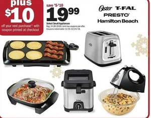 Select Small Appliances - Plus $10 Off Next Purchase