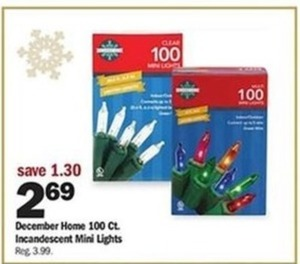 December Home 100 Ct. Incandescent Mini Lights