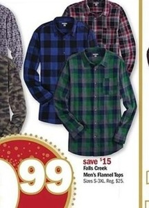 Falls Creek Men's Flannel Tops