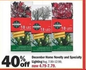December Home Novelty And Specialty Lighting