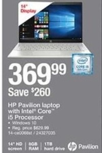 HP Pavilion Laptop with Intel Core i5 Processor
