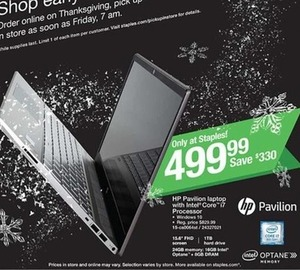 HP Pavilion Laptop with Intel Core i7 Processor
