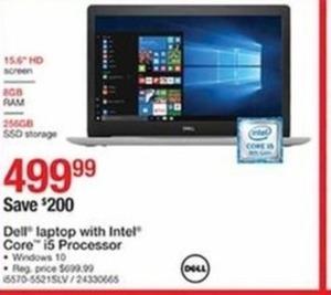 Dell Laptop with Intel Core i5 Processor