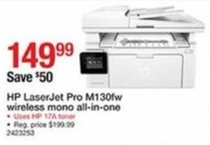 HP Laser Jet Pro M130FW Wireless Mono All-In-One Printer