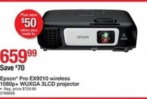 Epson Pro Ex9210 Wireless 1080p+ Wuxga 3 LCD Projector