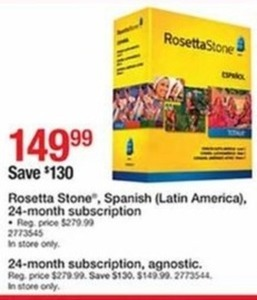 Rosetta Stone Spanish (Latin America) 24-Month Subscription