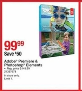 Adobe Premier and Photoshop Elements