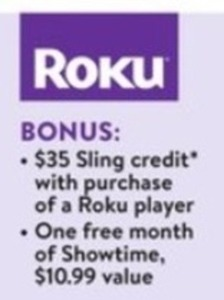 $35 Sling Credit + 1 Free Month Showtime